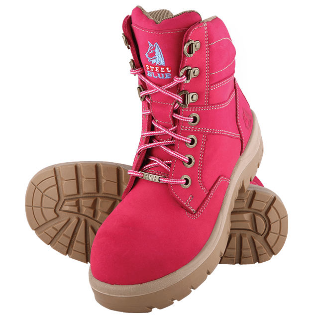 Southern Cross Ladies Safety Boots in Pink