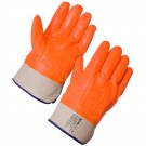 Thermal PVC Hi Vis Gloves - Safety Cuff
