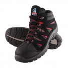 Steel Blue Brisbane Sports Style Lace Up Safety Boot in Black/Red