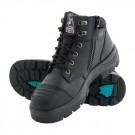 Steel Blue Parkes Zip & Lace Safety Boot with Steel Midsole and Bump Cap