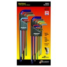 Bondhus ColorGuard Ballpoint Extra-long L-wrench Set Metric / Imperial Multi-pack BLX22XLCG
