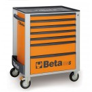 Beta Tools Mobile Roller Cabinet with seven drawers - Orange C24S O/7