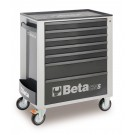 Beta Tools Mobile Roller Cabinet with seven drawers - Grey C24S G/7