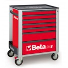 Beta Tools Mobile Roller Cabinet with seven drawers - Red C24S R/7